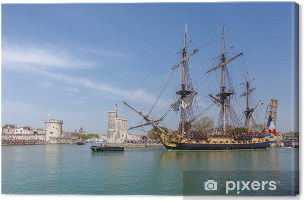Cuadro en Lienzo L'Hermione quitte le port de la Rochelle. - Barcos