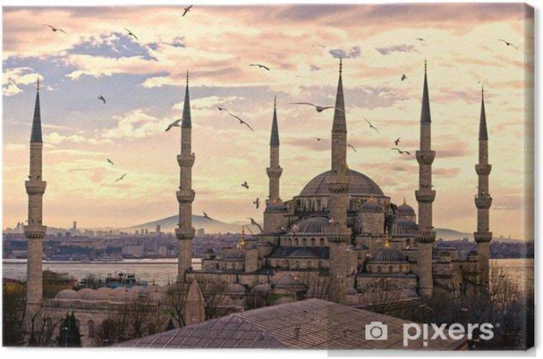 Cuadro en Lienzo La Mezquita Azul, Estambul, Turquía. - iStaging