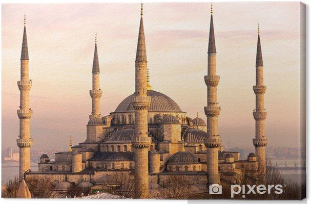 Cuadro en Lienzo La Mezquita Azul, Estambul, Turquía. - Temas