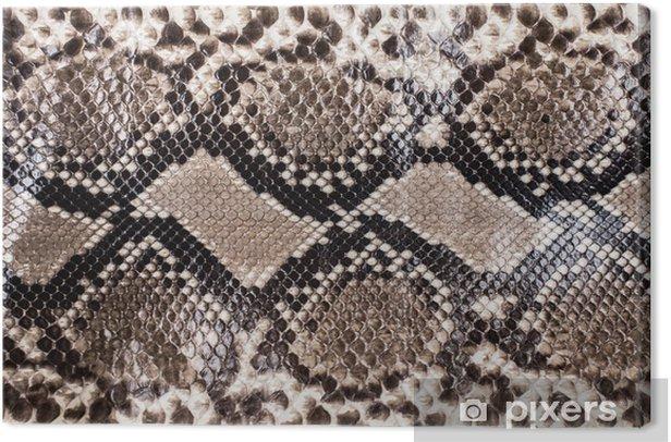 Cuadro en Lienzo La piel de serpiente patrón de fondo - Recursos gráficos