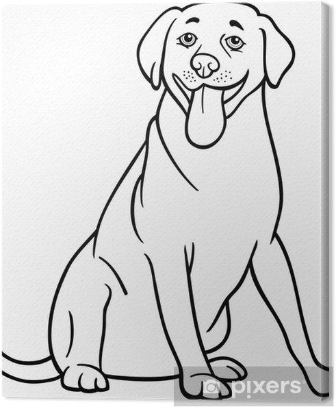 Cuadro En Lienzo Labrador Retriever Perro De Dibujos Animados Para