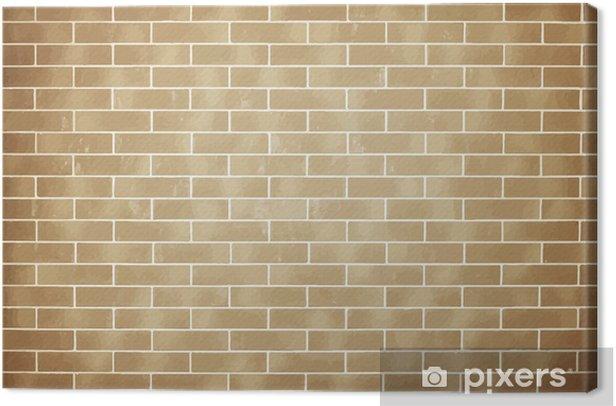 Cuadro en Lienzo Ladrillo la pared de fondo marrón - Texturas