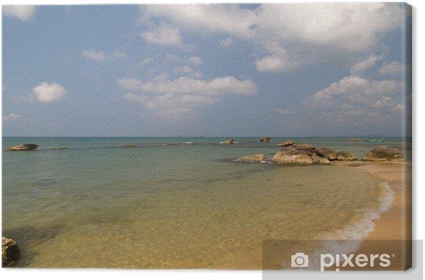 Cuadro en Lienzo Las olas del mar transparente - Asia