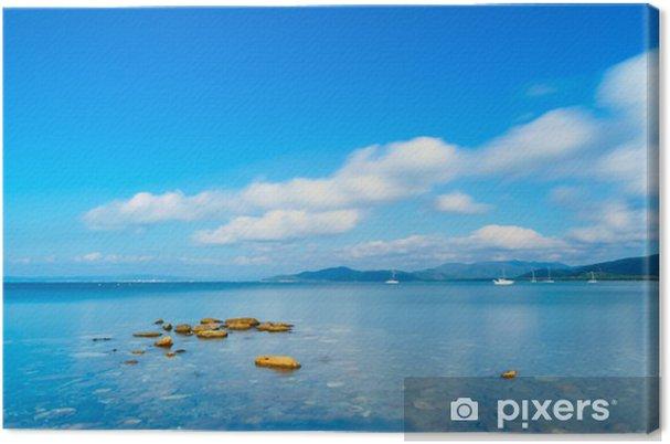 Cuadro en Lienzo Las rocas en una bahía panorámica al mar. Punta Ala, Toscana, Italia - Temas