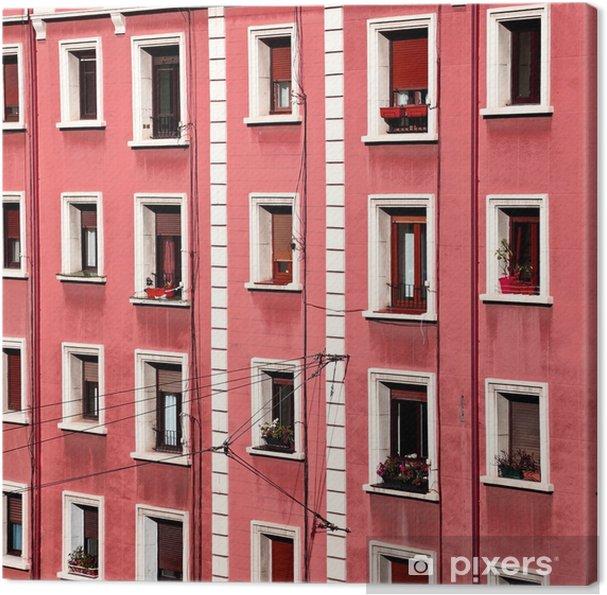 Cuadro en Lienzo Las ventanas en la fachada - Construcciones y arquitectura