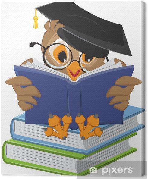 Cuadro en Lienzo Libro de lectura Búho sabio - Temas
