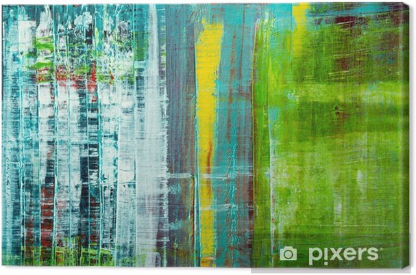 Cuadro en Lienzo Lienzo pintado abstracto. pinturas al óleo en una paleta. - Recursos gráficos