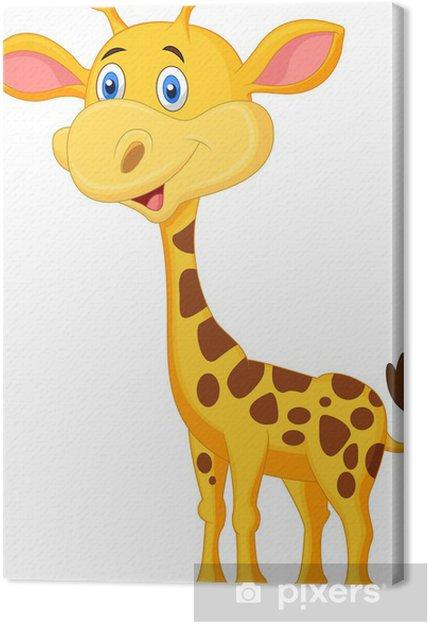 Cuadro en Lienzo Linda jirafa de dibujos animados • Pixers ...