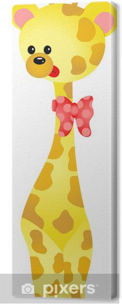 Cuadro en Lienzo Linda jirafa - Mamíferos