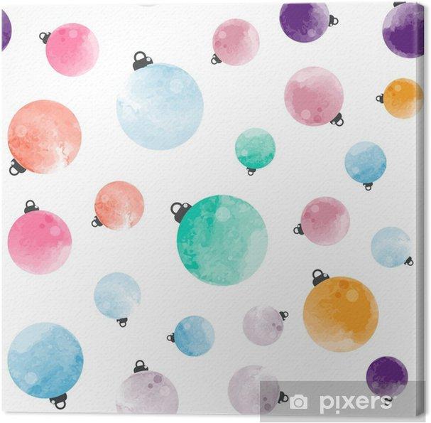Cuadro en Lienzo Lindo diferente colorido decorativos acuarela bolas ...