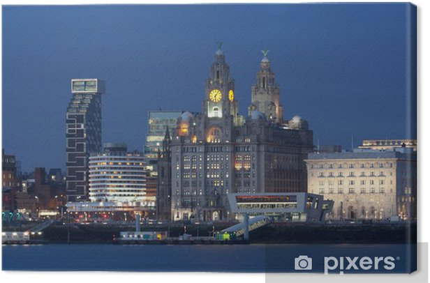 Cuadro en Lienzo Liverpool City View - Vacaciones