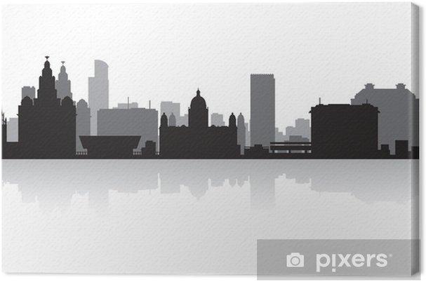 Cuadro en Lienzo Liverpool silueta horizonte de la ciudad • Pixers ...