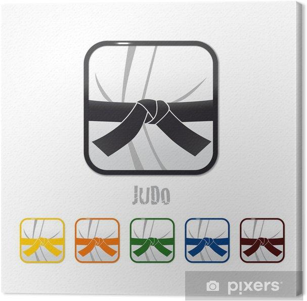 Cuadro en Lienzo Logo judo, judo - Señales y símbolos