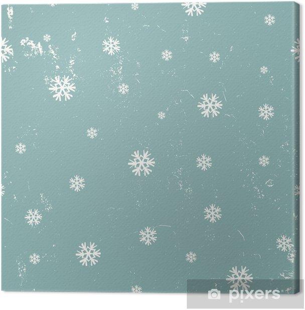 Cuadro en Lienzo Los copos de nieve sin fisuras patrón - Recursos gráficos