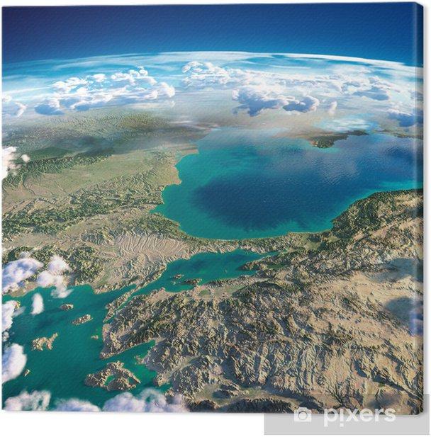 Cuadro en Lienzo Los fragmentos del planeta tierra. Turquía. Mar de Mármara - Tierra