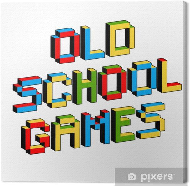 Cuadro En Lienzo Los Juegos De La Vieja Escuela Envian Textos Al