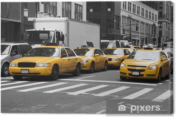 Cuadro en Lienzo Los taxis de Nueva York - Temas