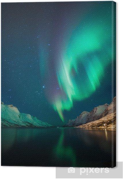 Cuadro en Lienzo Luces del Norte en Noruega - Temas