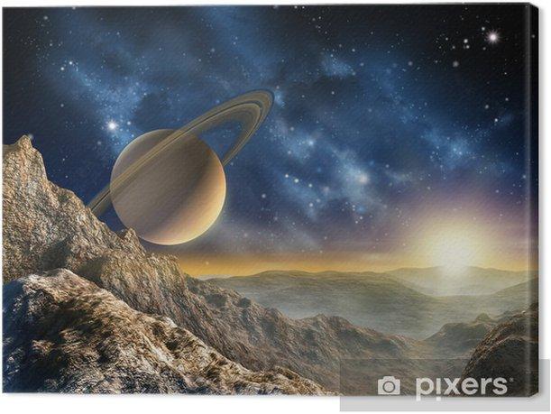 Cuadro en Lienzo Luna de Saturno - Estrellas