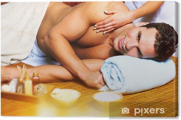 Cuadro en Lienzo Man Having Massage - Salud