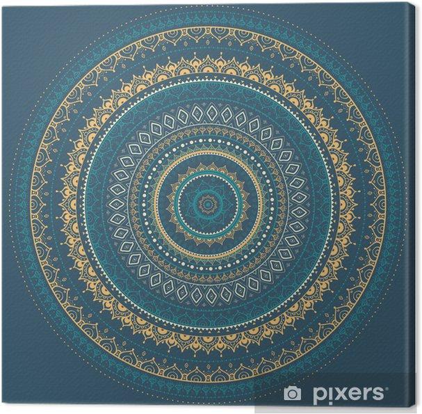 Cuadro en Lienzo Mandala. Patrón decorativo indio. - Estilos