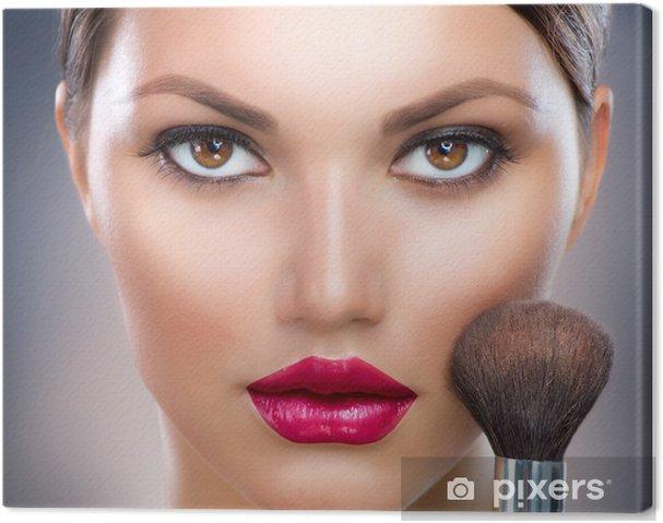 Cuadro en Lienzo Maquillaje. Maquillaje Rostro - Mujeres