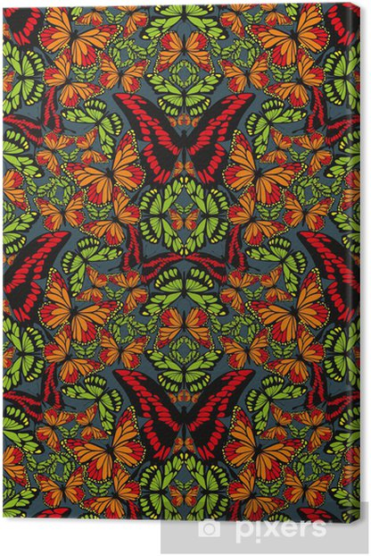 Cuadro en Lienzo Mariposa papel pintado - Fondos