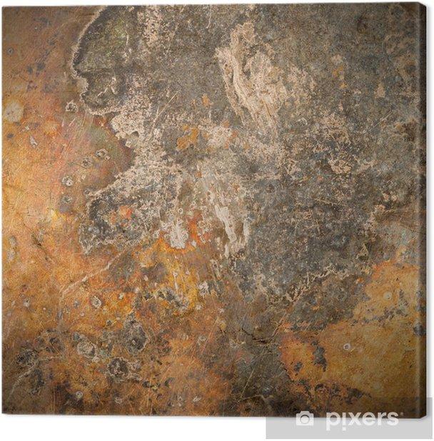 Cuadro en Lienzo Marrón moho placa de metal de fondo - Estilos