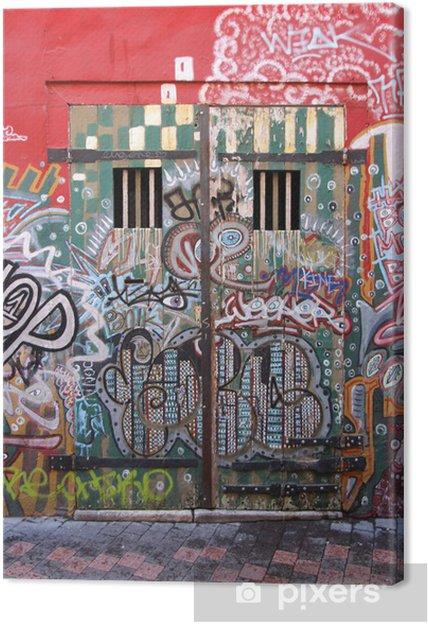 Cuadro en Lienzo Marsella - Cours Julien (street art) - Infraestructuras