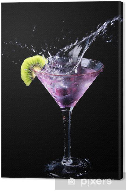 Cuadro en Lienzo Martini splash 2 - Para restaurante