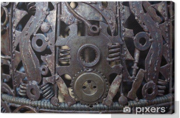 Cuadro en Lienzo Metal Gears, coche, auto, moto. Obras de arte de metal Artesanía de equipos de - Estilos