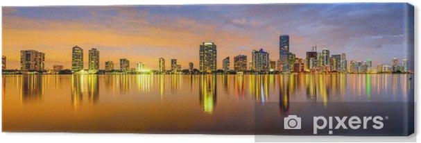 Cuadro en Lienzo Miami, Florida Biscayne Bay Panorama del horizonte - iStaging