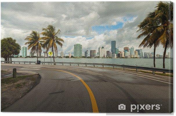 Cuadro en Lienzo Miami Skyline - América