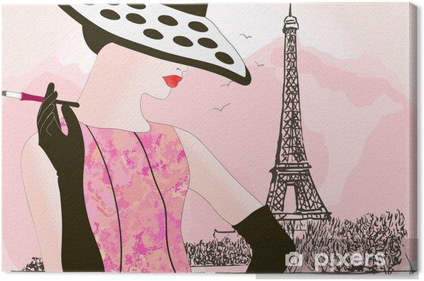 Cuadro en Lienzo Moda mujer en París - Moda