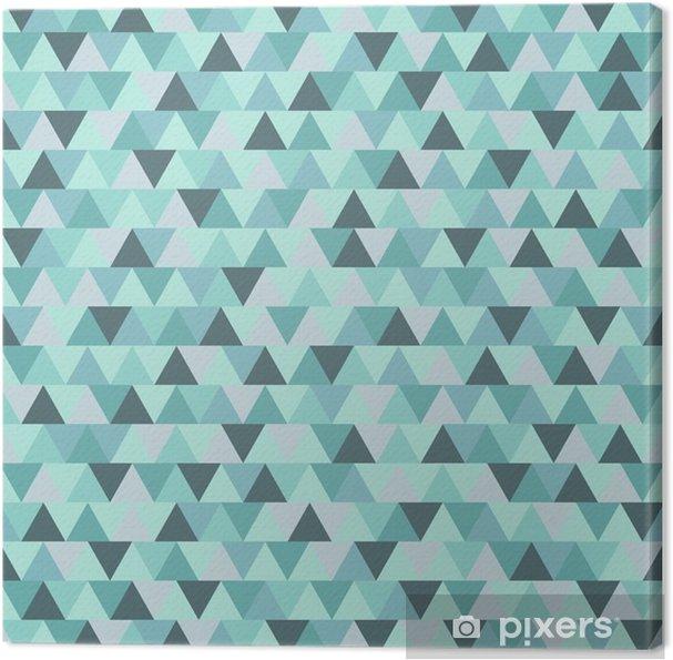 Cuadro en Lienzo Modelo abstracto del triángulo de Navidad, azul gris de fondo de vacaciones de invierno geométrica - Recursos gráficos