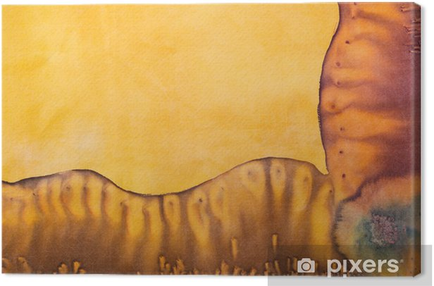 Cuadro en Lienzo Modelo abstracto en batik de seda hecho a mano - Texturas