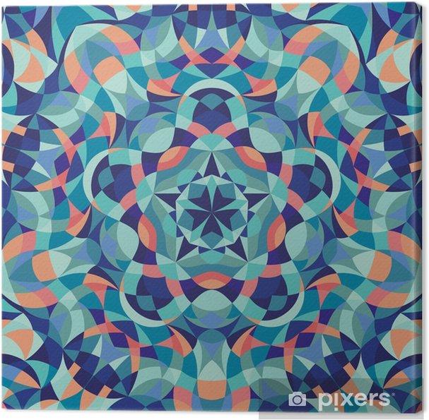 Cuadro en Lienzo Modelo colorido geométrico del caleidoscopio. Fondo abstracto. ilustración vectorial - Recursos gráficos