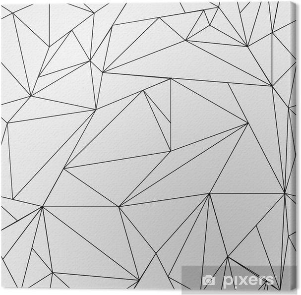 Cuadro En Lienzo Modelo Geométrico Blanco Y Negro Simple