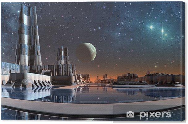 Cuadro en Lienzo Modern City Skyline - Espacio exterior