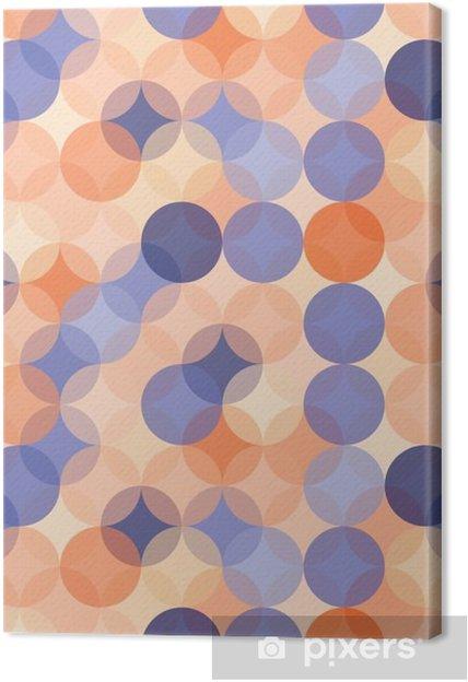 Cuadro en Lienzo Modernos del vector círculos patrón de colores sin fisuras la geometría, el color azul de fondo naranja abstracto geométrico, impresión del papel pintado, textura retro, diseño de moda del inconformista, __ - Recursos gráficos