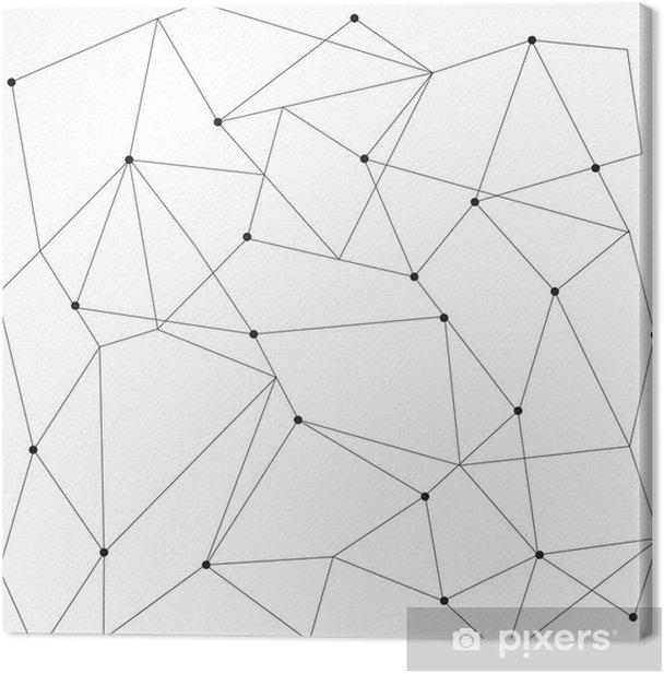 Cuadro en Lienzo Modernos patrón transparente geométrica escandinavo - Recursos gráficos
