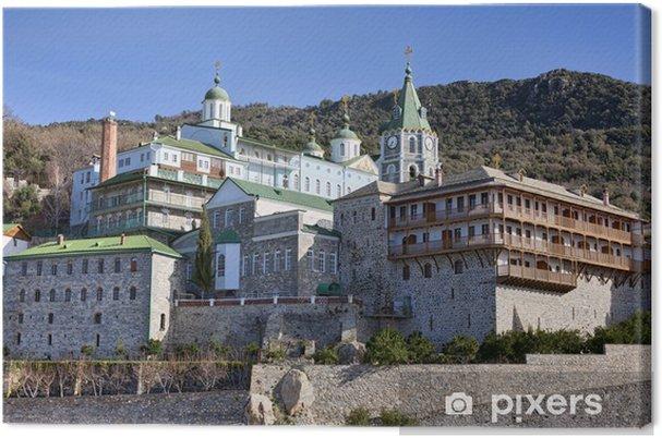 Cuadro en Lienzo Monasterio de San Pantaleón en el Monte Athos - Religión
