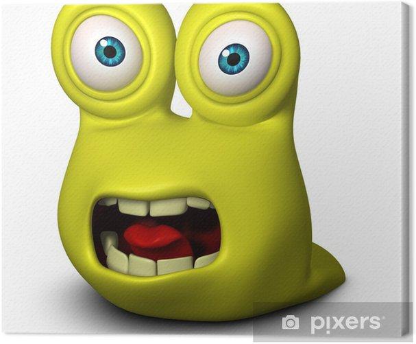 Cuadro en Lienzo Monster Sad - Mundo microscópico