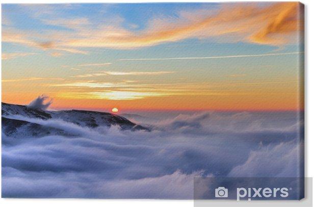 Cuadro en Lienzo Montaña de invierno - Temas