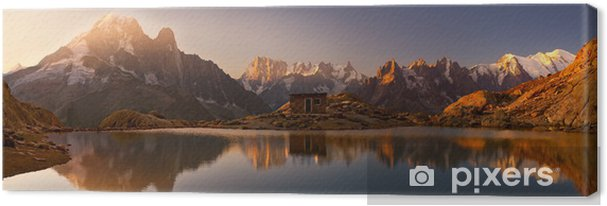 Cuadro en Lienzo Monte Bianco e Alpi RIFLESSE nel Lago Bianco - Destinos