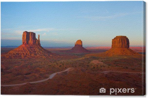 Cuadro en Lienzo Monument Valley al atardecer - Desiertos