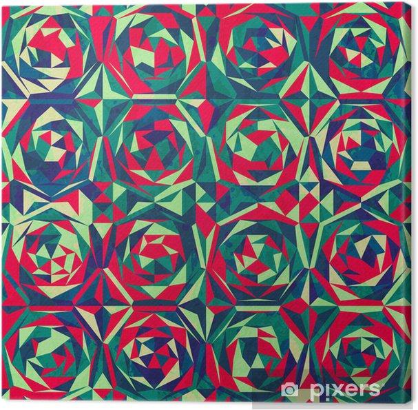 Cuadro en Lienzo Mosaico retro sin patrón, con efecto Gluss - Fondos