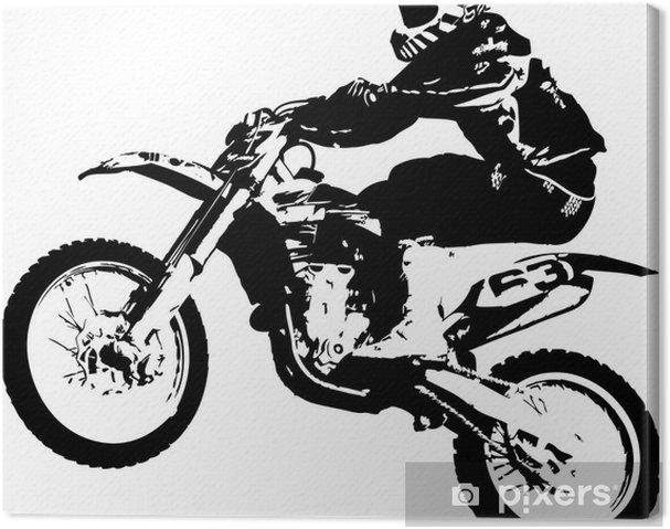 Cuadro en Lienzo Motocross puente - Vinilo para pared