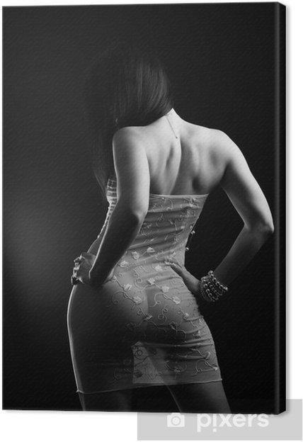 3b9bd1d3e4 Cuadro en Lienzo Mujer atractiva en la ropa interior transparente - Ropa  interior