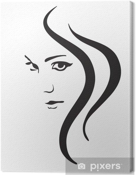 355f7419e8 Cuadro en Lienzo Mujer joven rostro vector